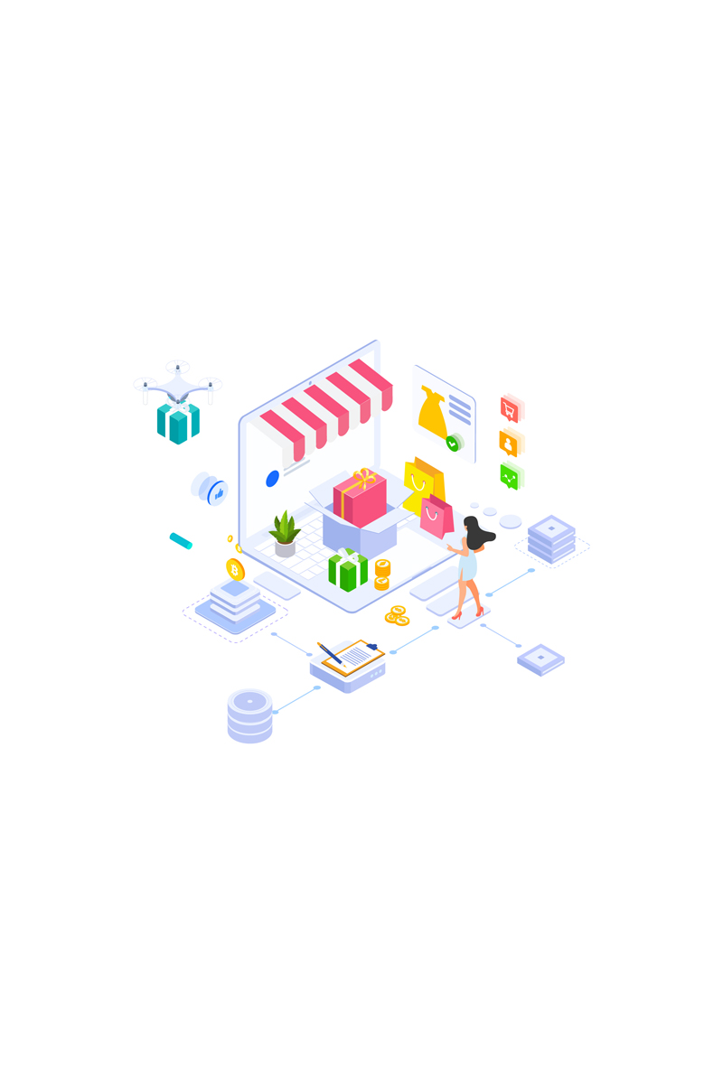 """Illustration namens """"E-commerce 4"""" #88919"""