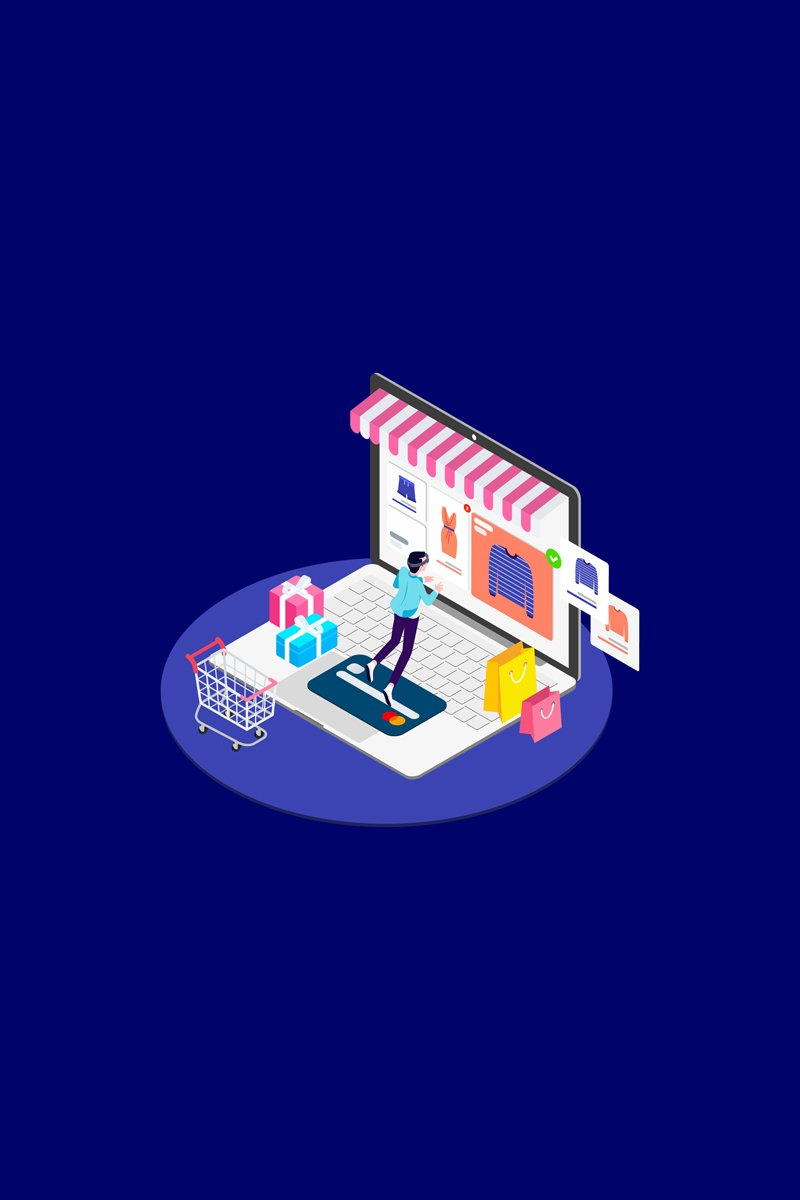 """Illustration namens """"Find Information of Products with VR Isometric 2 - T2"""" #88954"""