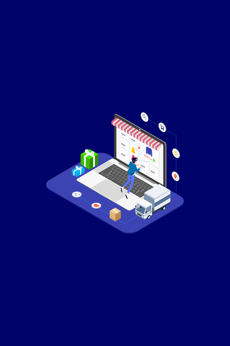 Ilustracja Find Information of Products with VR Isometric 4 - T2 #88952