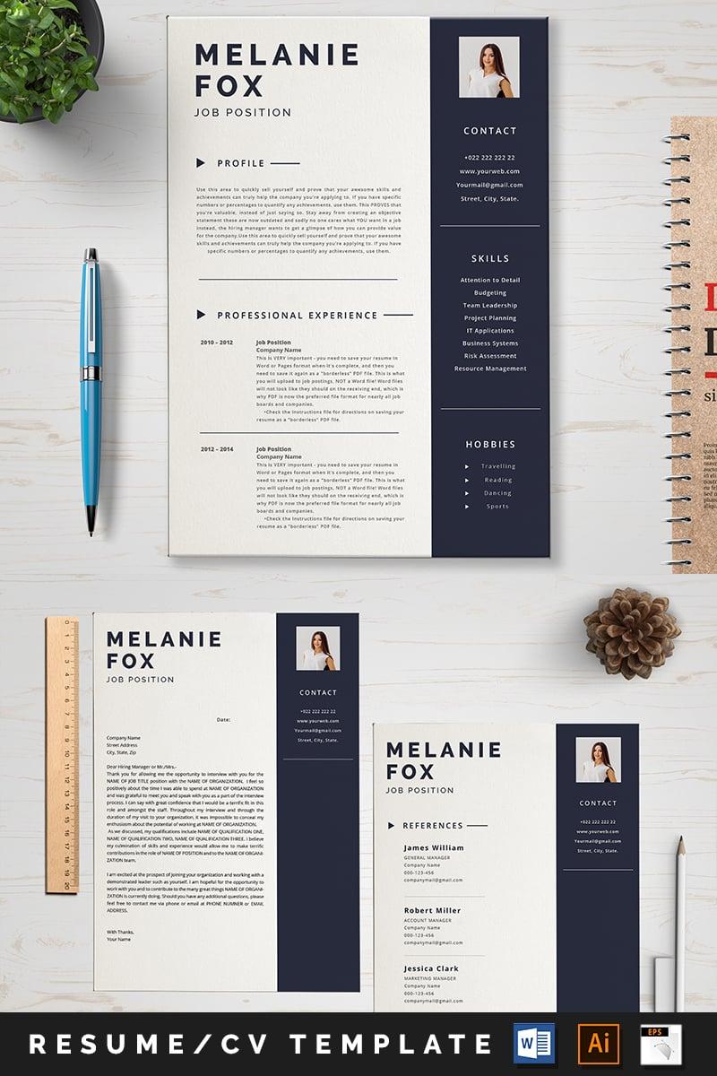 Melanine Fox Modelo de Currículo №88995