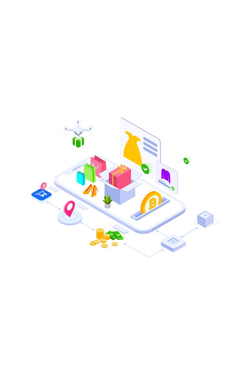 """Modello Illustrazione #88925 """"E-commerce 1"""""""