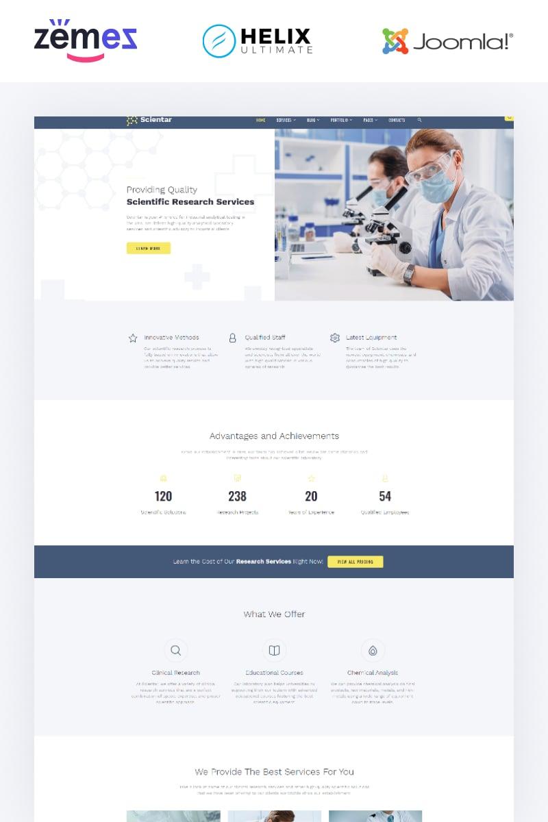 "Modello Joomla Responsive #88910 ""Scientar - Science Lab Multipage"" - screenshot"