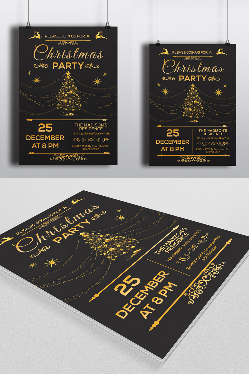 Sistec Christmas Party Flyer Corporate identity-mall #88907