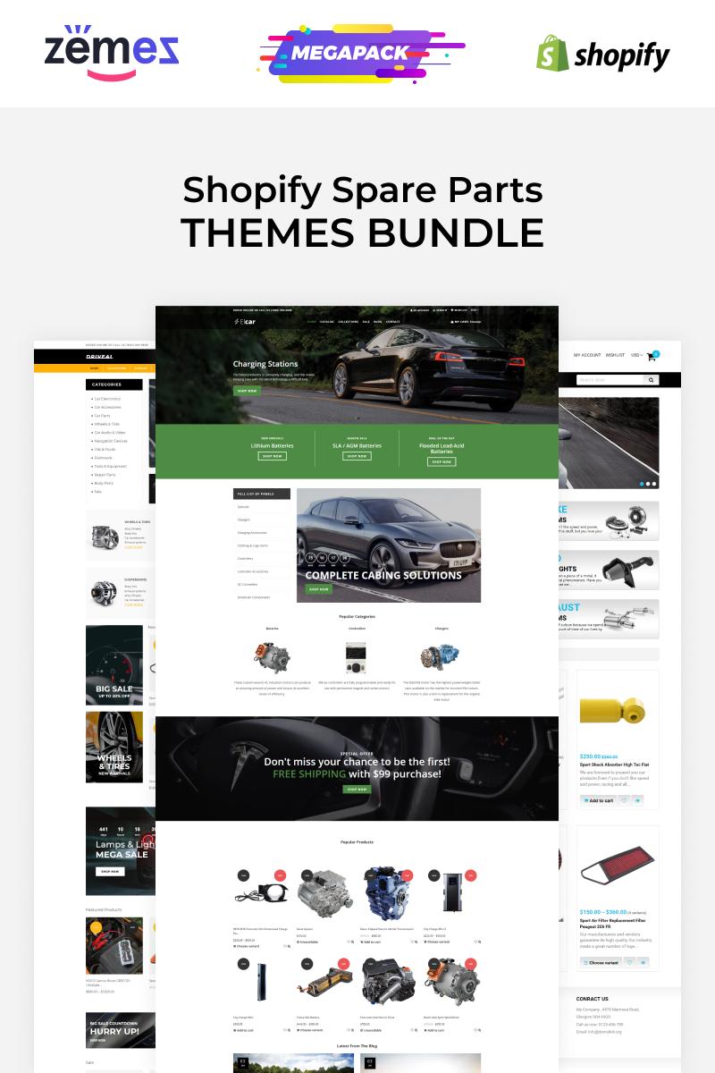"""Spare Parts Themes Carromi"" - Shopify шаблон №88931"