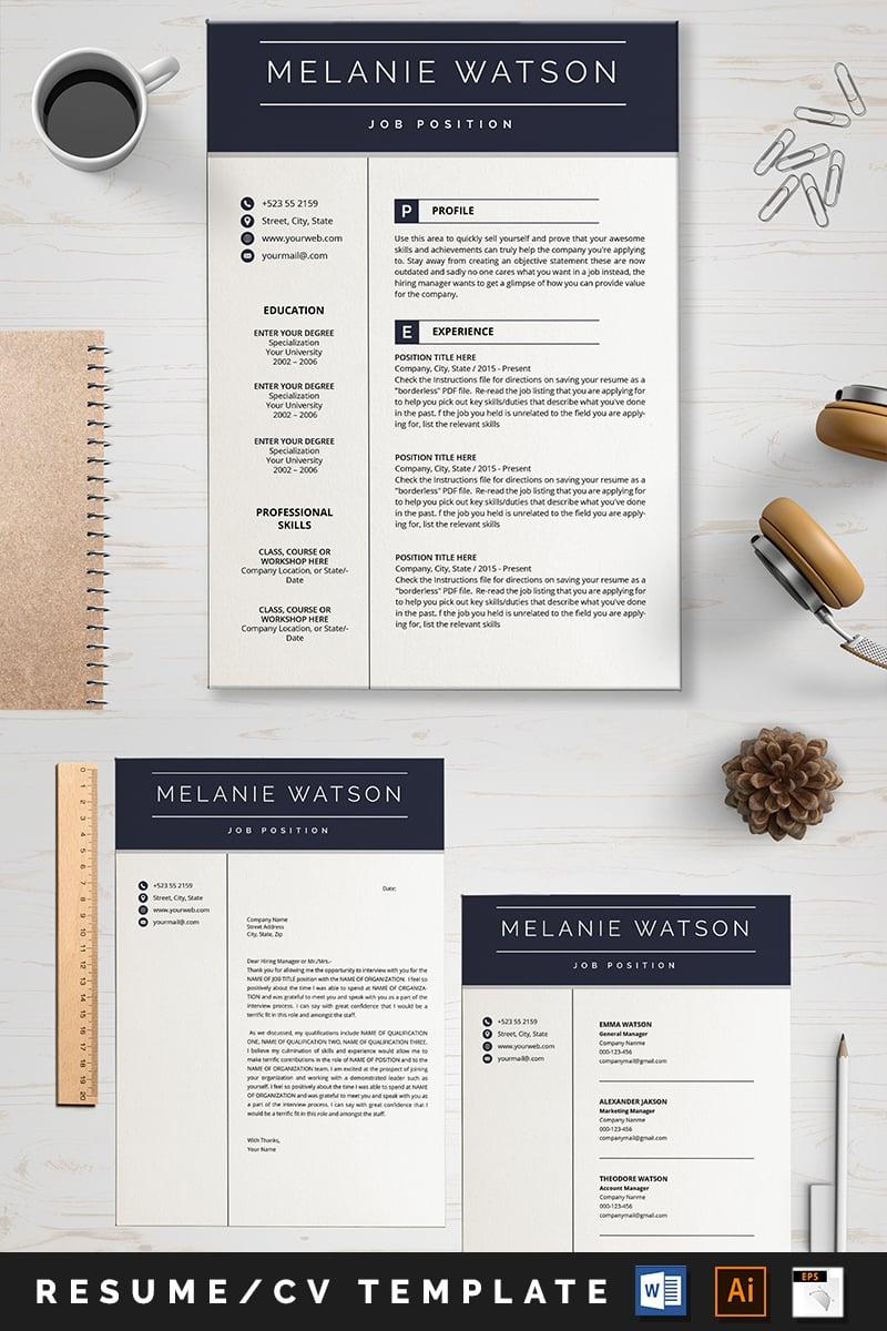 Szablon resume Melanine Watson #88998 - zrzut ekranu