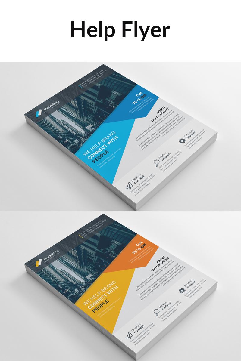 """Unternehmensidentität Vorlage namens """"Blue Matt Color Business Flyer"""" #88909"""