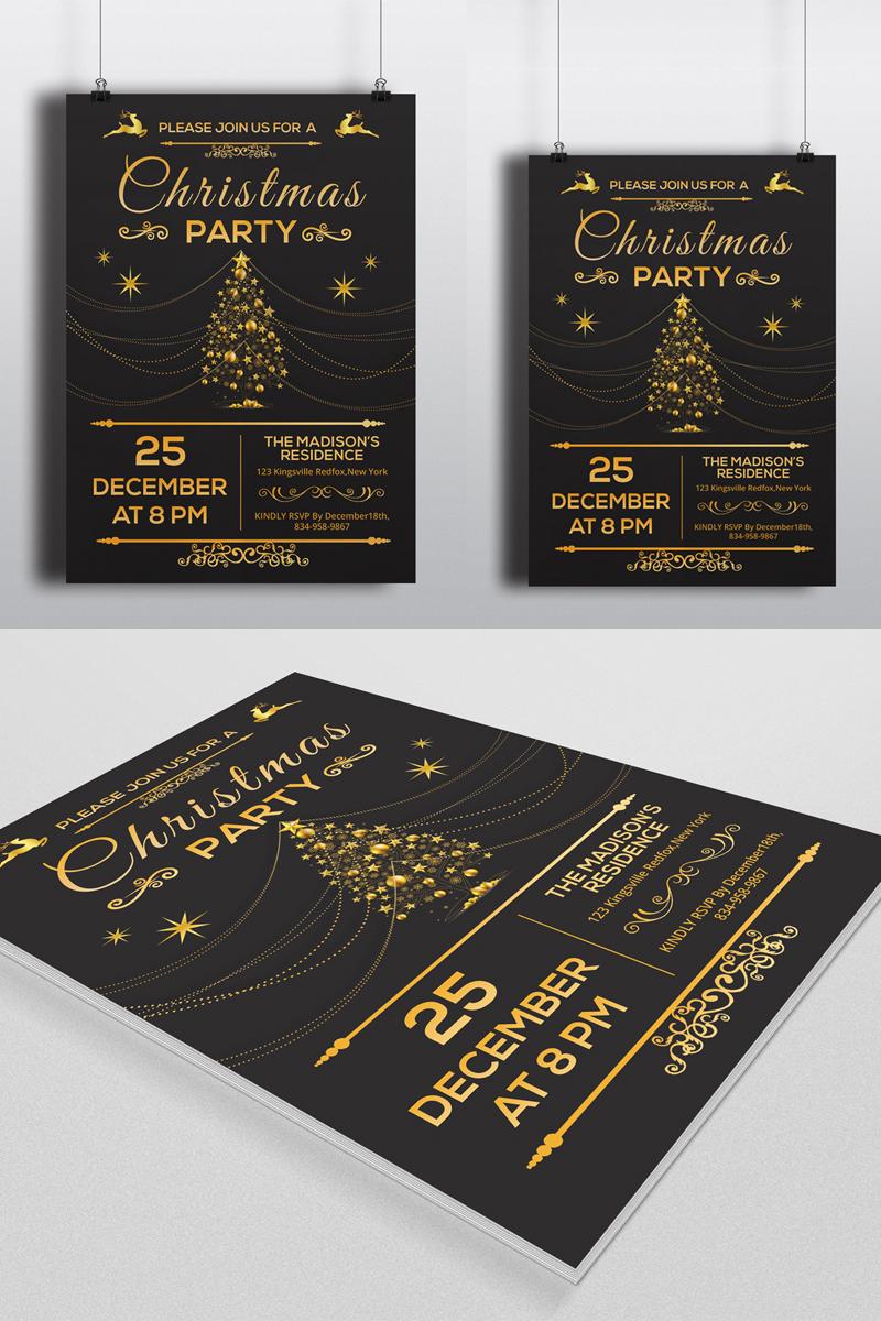"Unternehmensidentität Vorlage namens ""Sistec Christmas Party Flyer"" #88907"