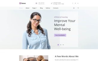 Sense - Psychologist Multipage Clean Joomla Template