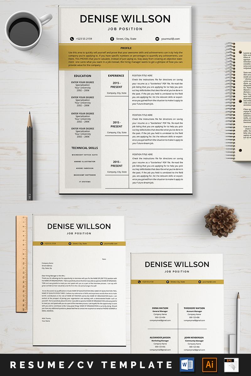 Denese Willson Modelo de Currículo №89010