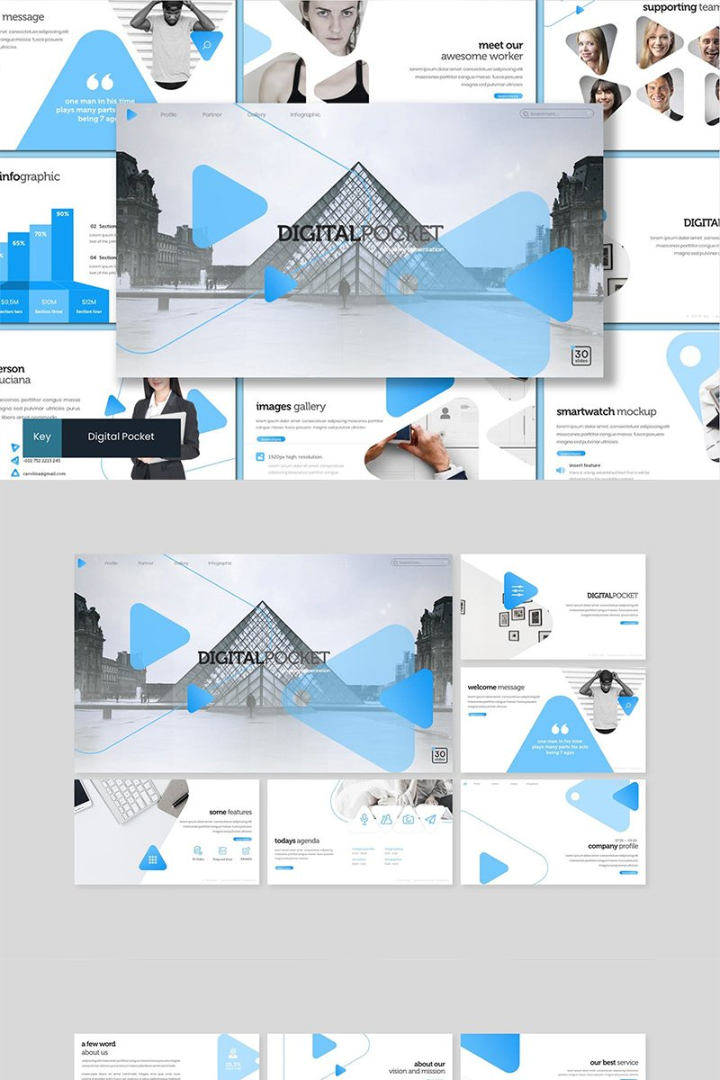 Digital Pocket Template para Keynote №89060