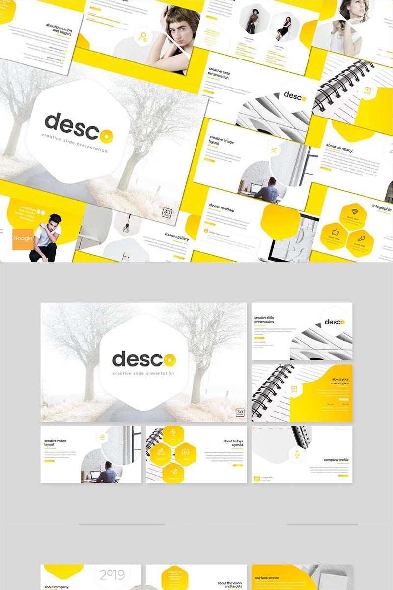 "Google Slides ""Desco"" #89091"