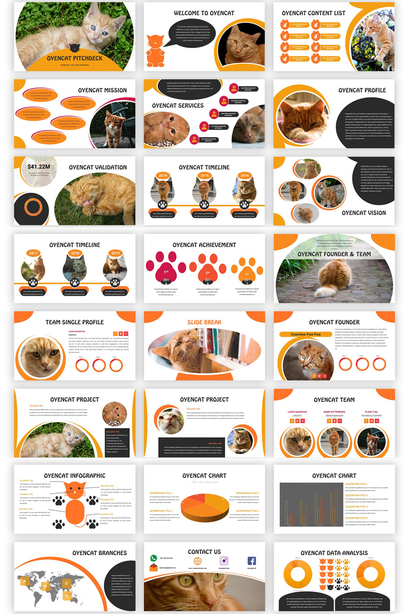 Google Slides Oyencat - Creative Cat #89099