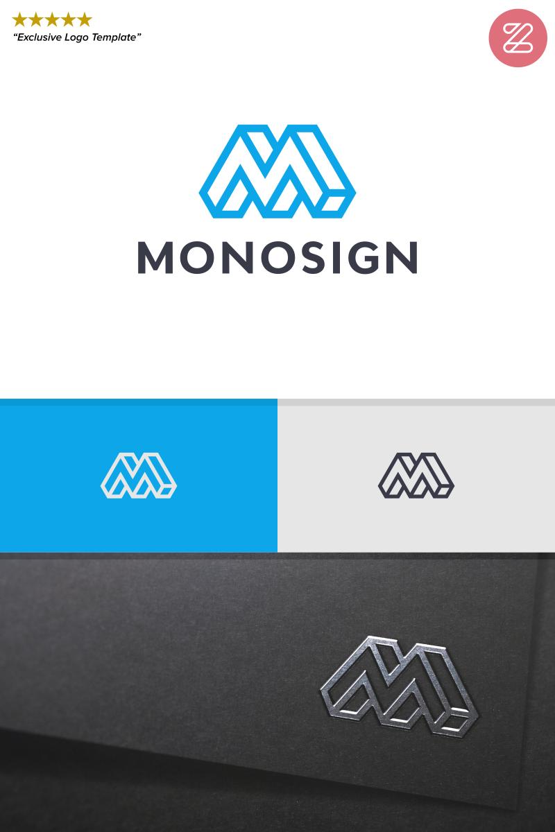 """""""INITIAL LETTER M - MONOSIGN"""" modèle logo  #89038"""