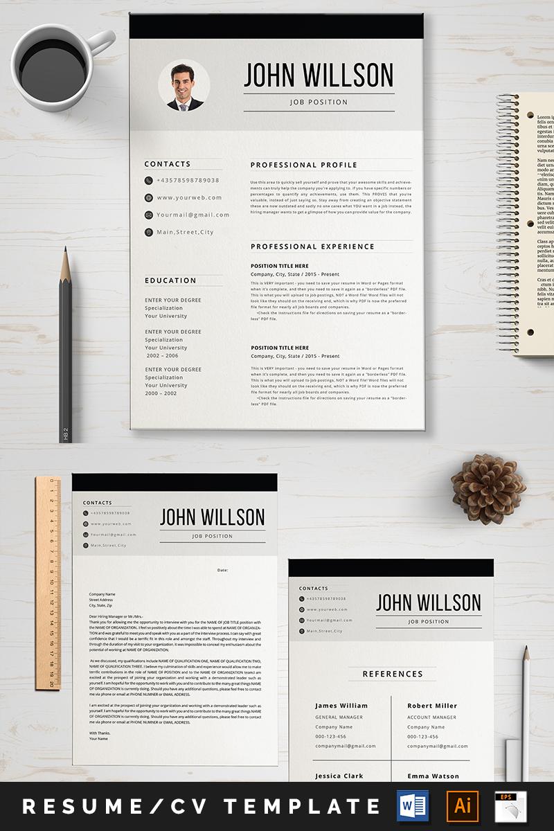 """John"" CV Template №89001 - screenshot"