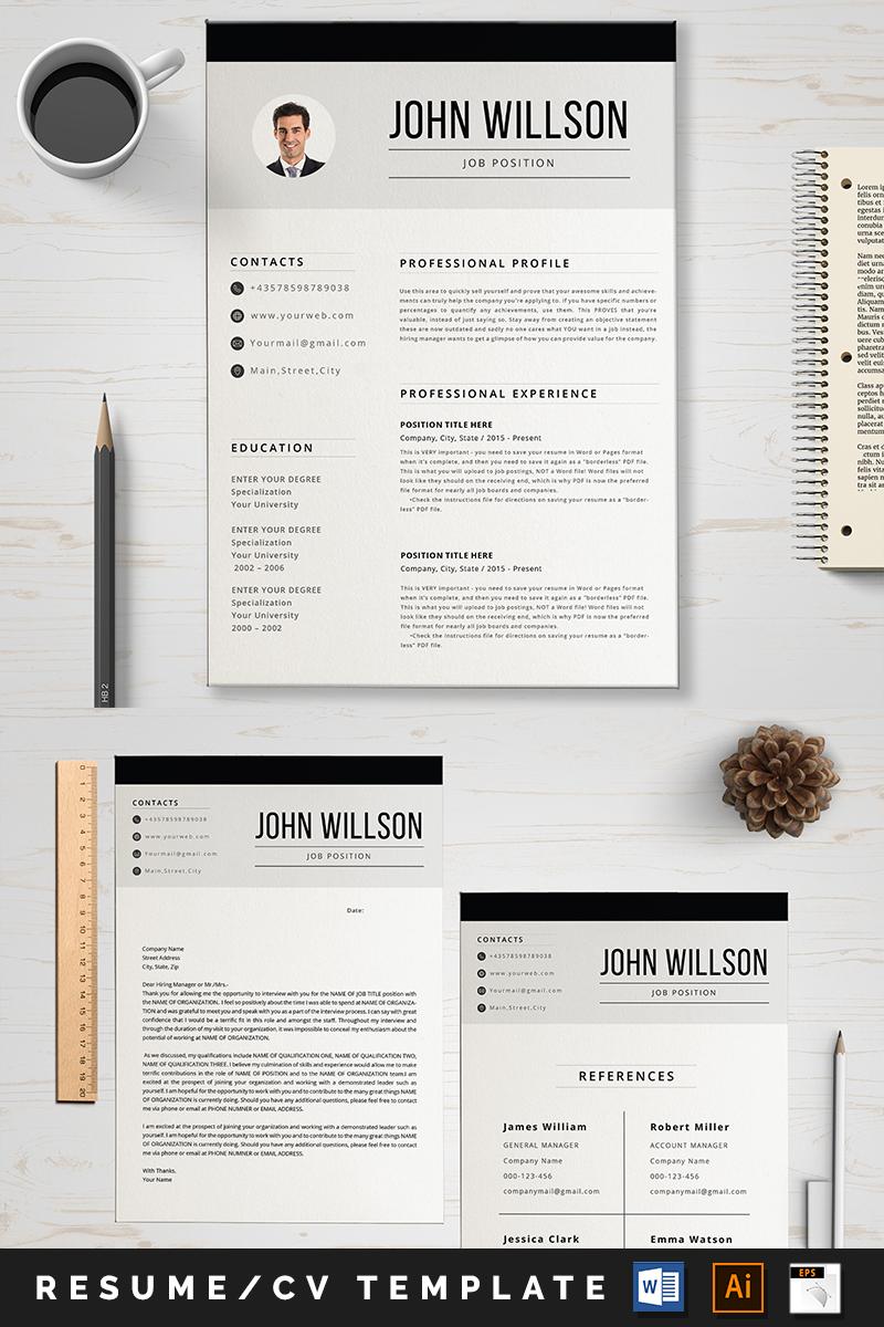 """""""John"""" - Шаблон резюме №89001 - скріншот"""