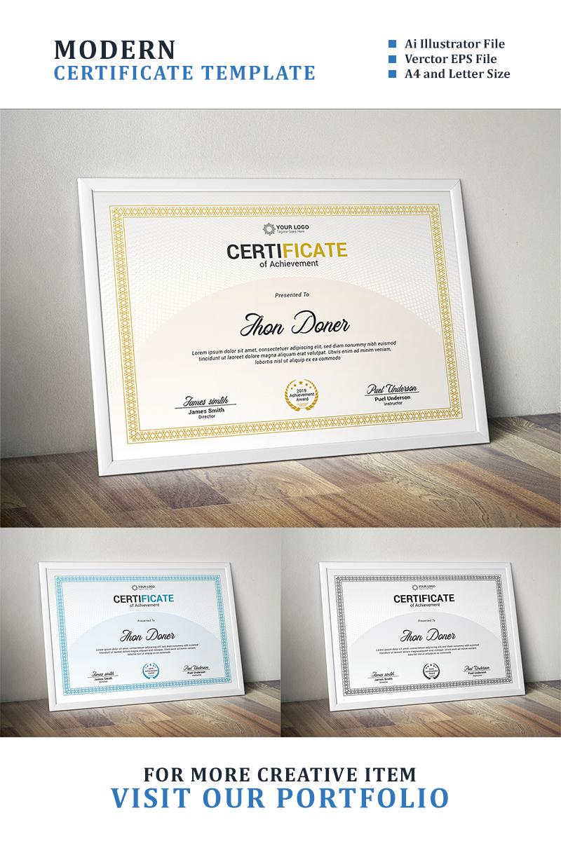 """Luxusní Šablona certifikátu """"Modern Diploma, Achievement"""" #89052"""