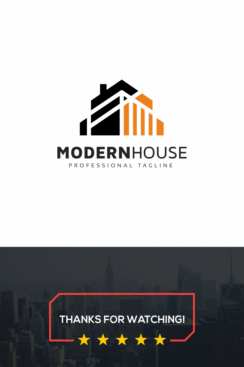 Modern House Template de Logotipo №89039