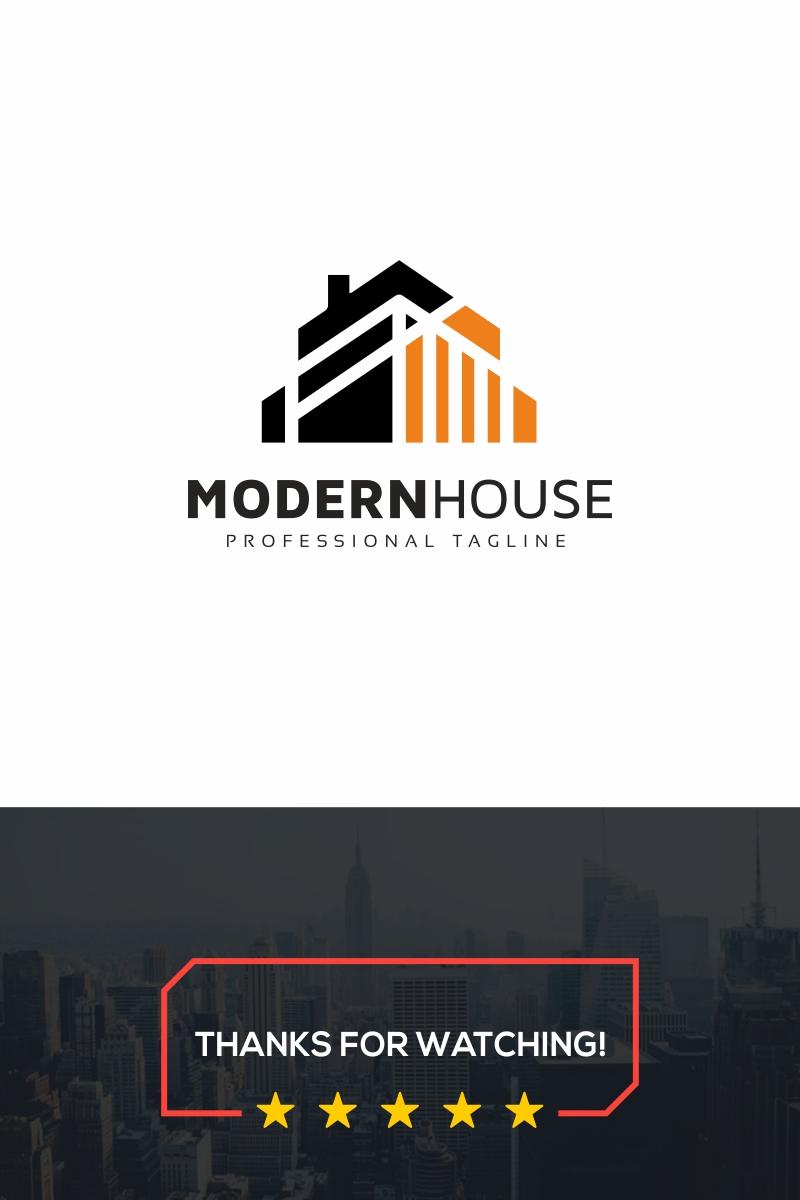 Modern House Unika logotyp mall #89039