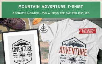 Mountain Adventure - T-shirt Design