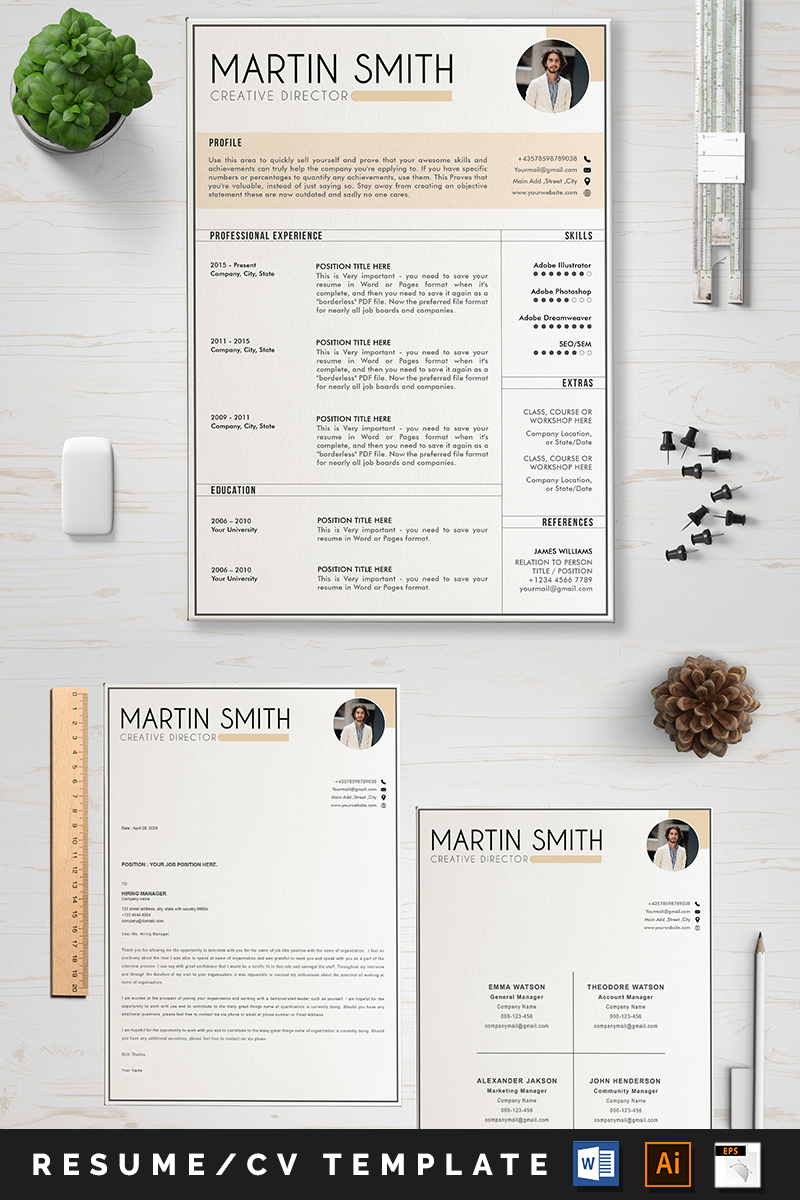 "Šablona pro životopis ""Martin"" #89043"