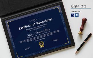 Sampa Appreciation Certificate Template