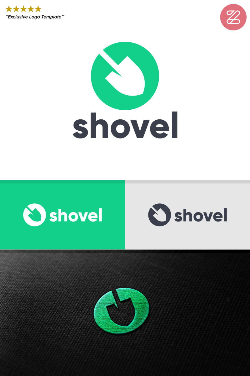 """Shovel"" Logo template №89040"