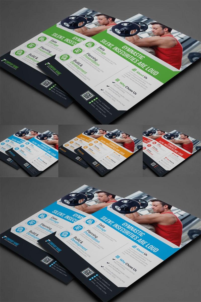 Szablon tożsamości korporacyjnej Blue Matt Color Business Flyer #89085