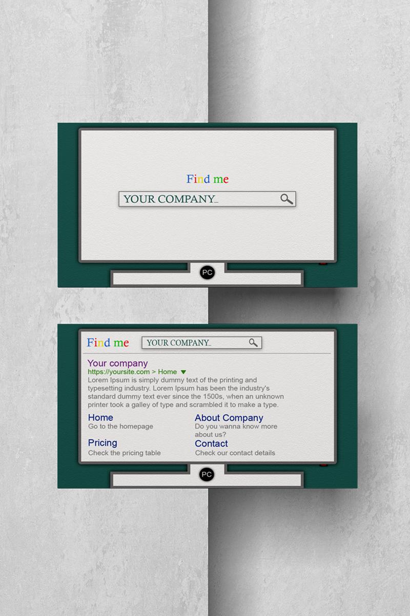 Szablon tożsamości korporacyjnej FindMe Businesscard #89075