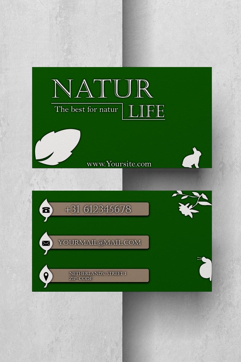 Szablon tożsamości korporacyjnej Natur Life Businesscard #89076