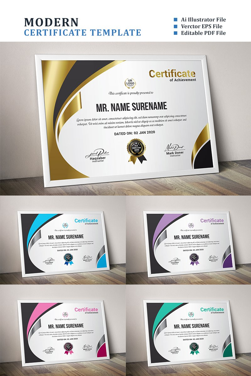 "Tema di certificato #89049 ""Gold"" - screenshot"
