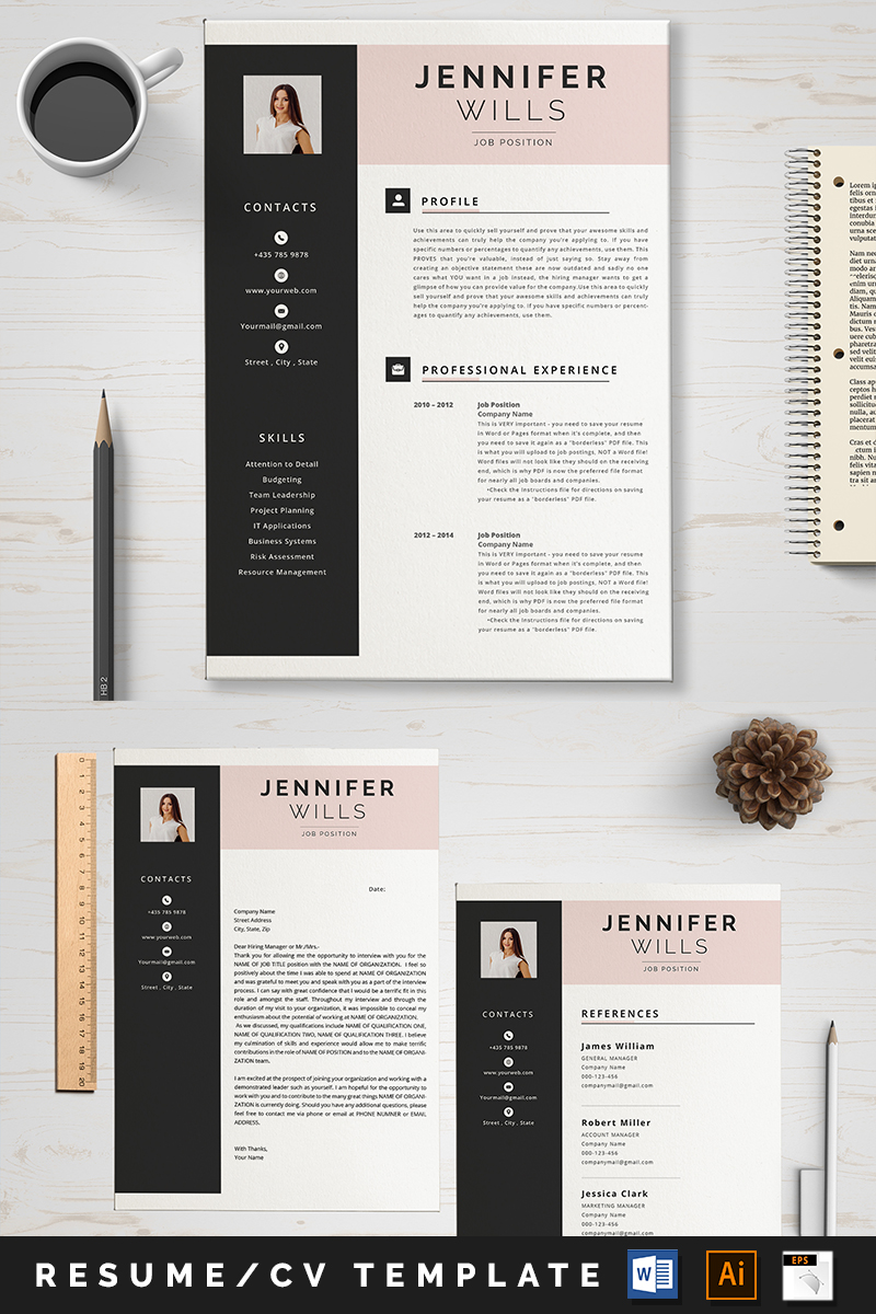 "Template CV #89008 ""Jennifer"" - screenshot"