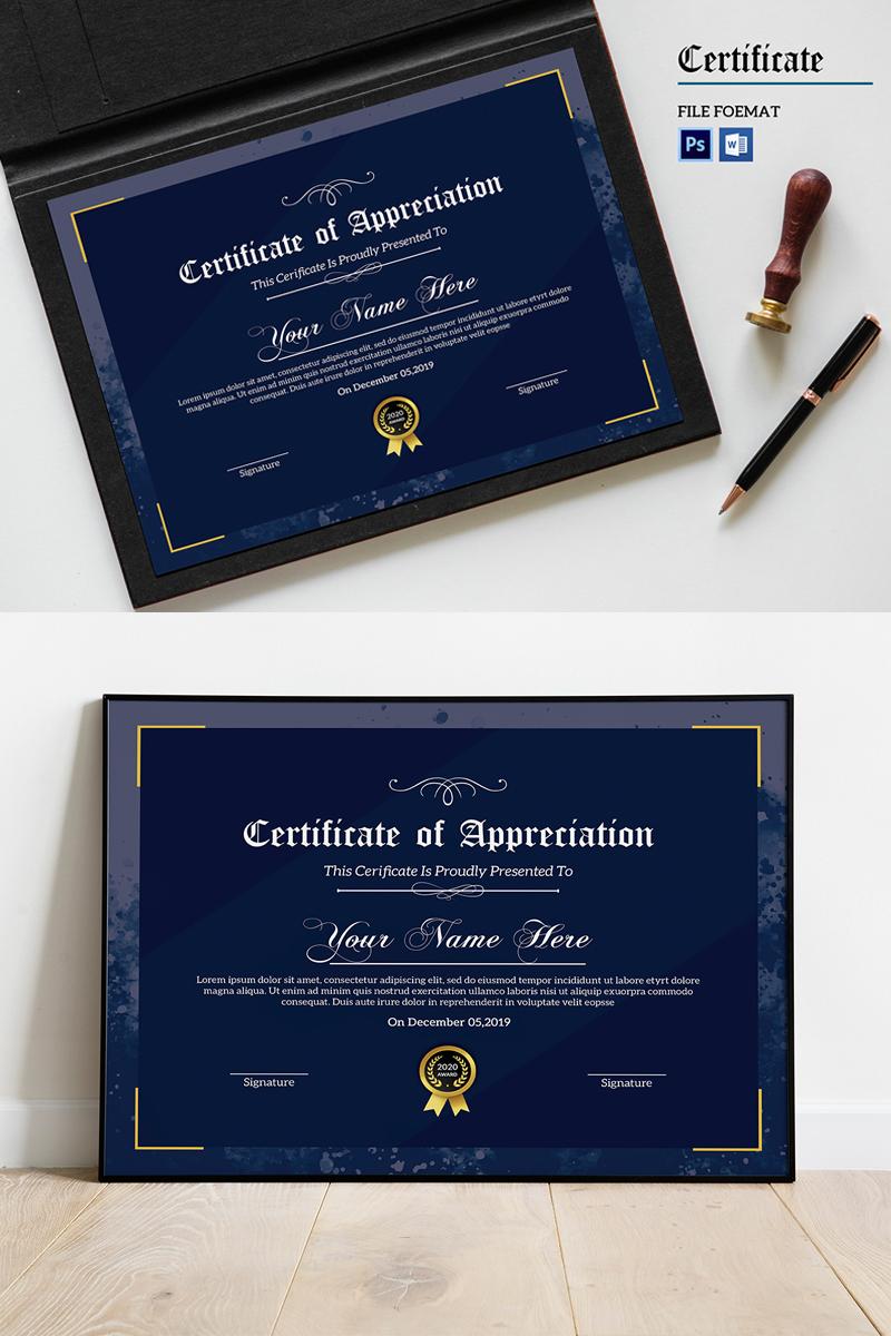 """Template di certificato #89053 """"Sampa Appreciation"""""""