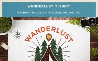Wanderlust - Keep Calm and Calm On - T-shirt Design
