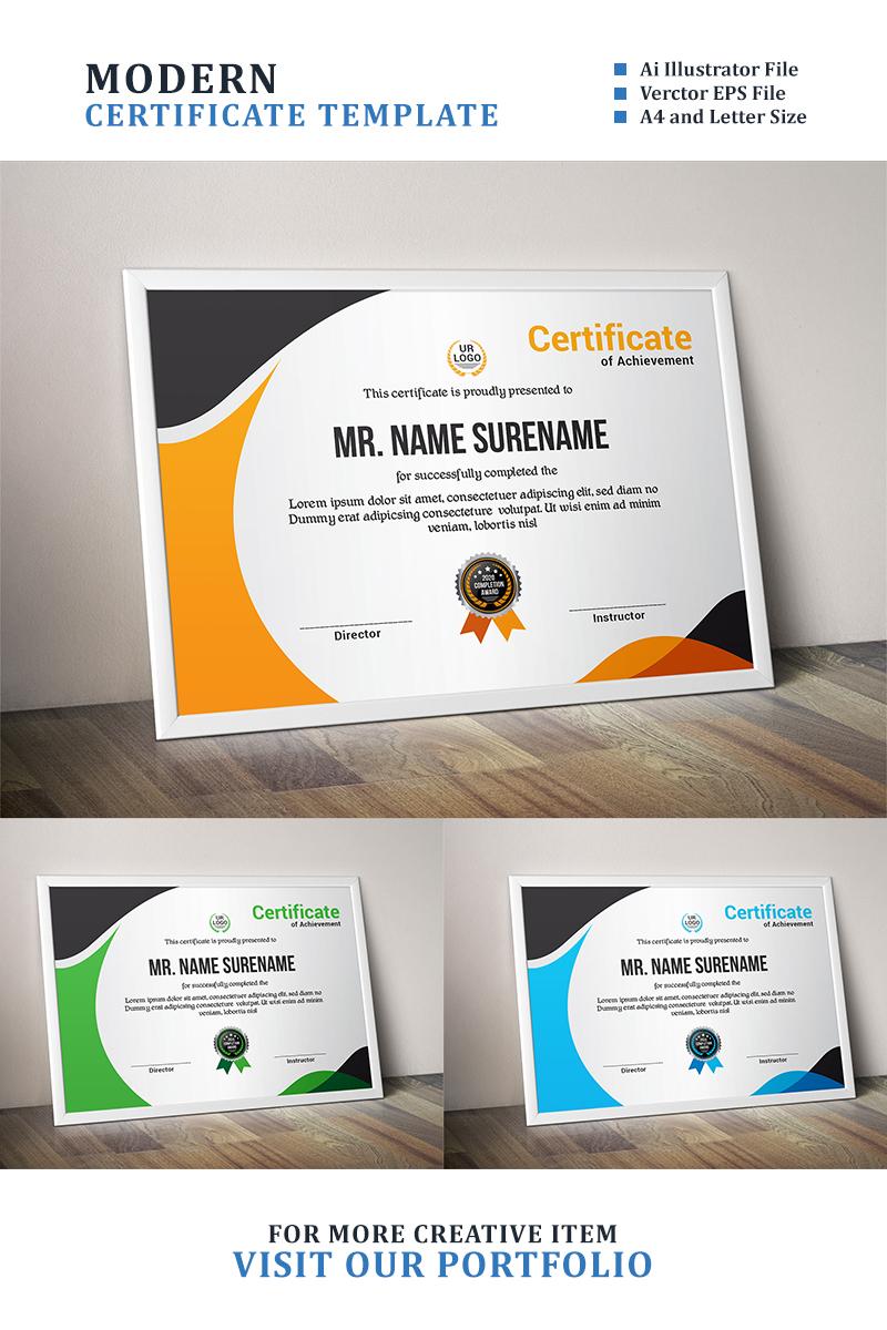 Wave Template de Certificado №89051