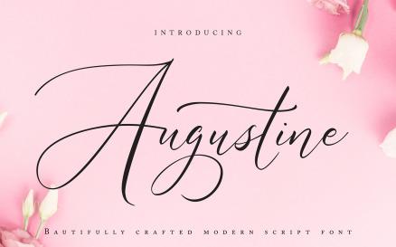 Augustine | Modern Script Font