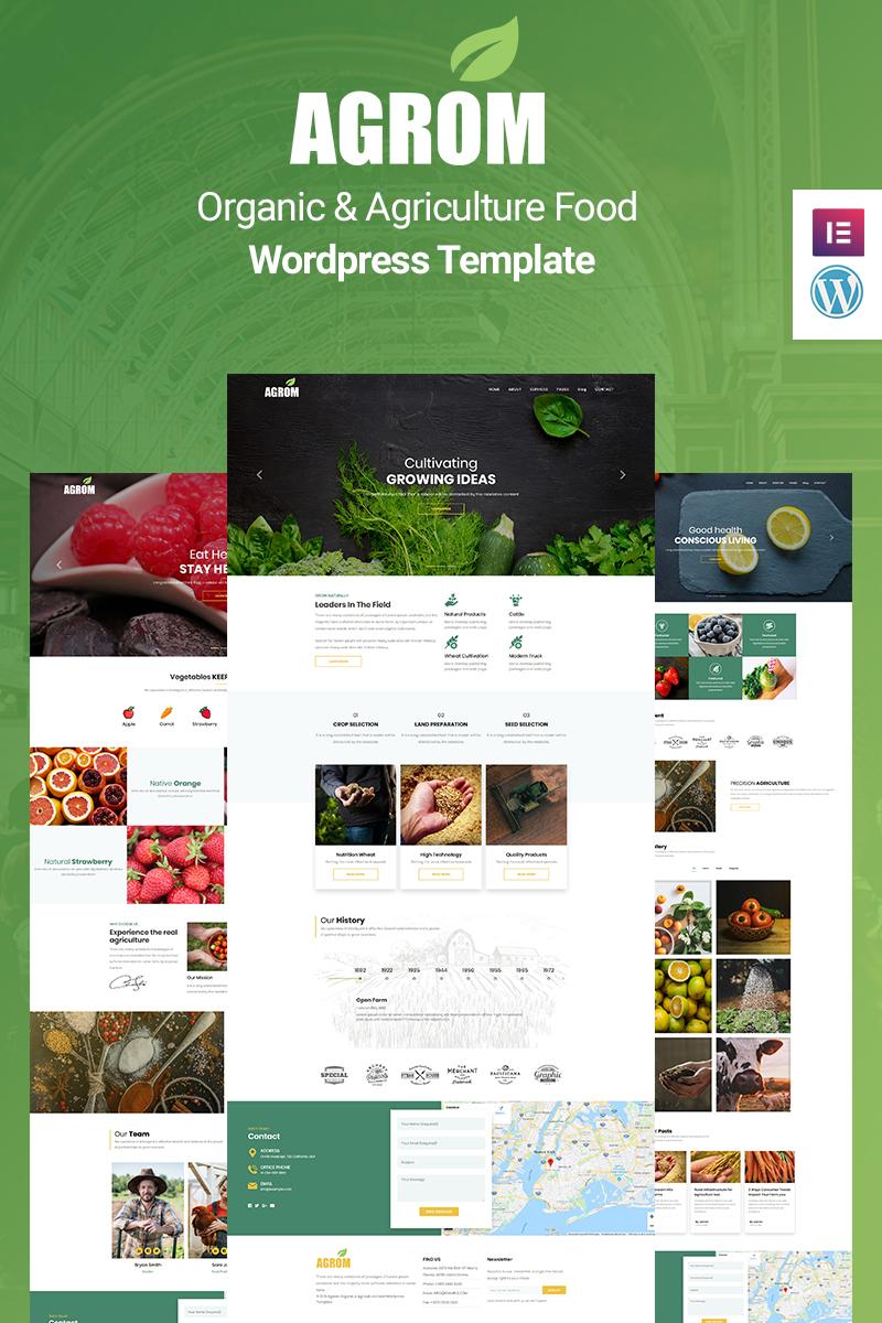 """Agrom - Organic & Agriculture Food"" - адаптивний WordPress шаблон №89164"