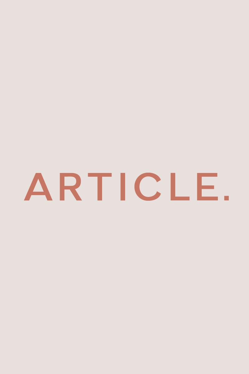 Article - A Geometric Typeface Yazıtipi #89174