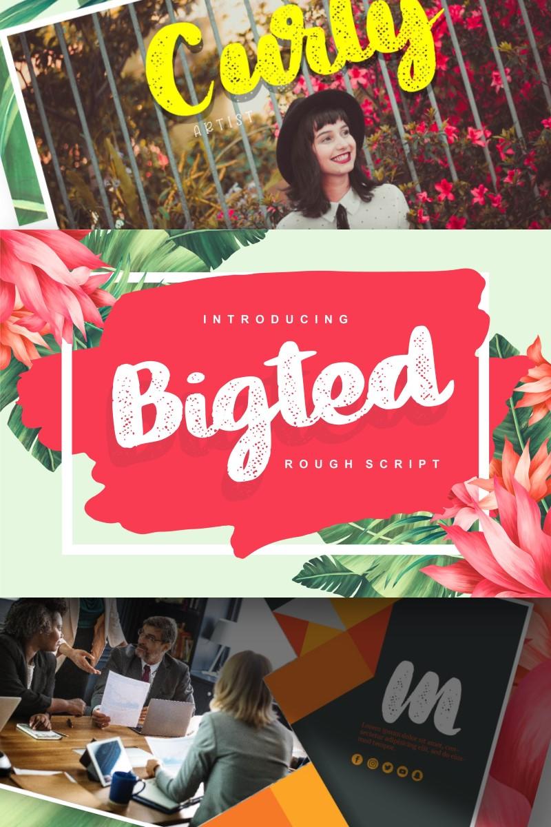 Bigted | Rough Script Yazıtipi #89168