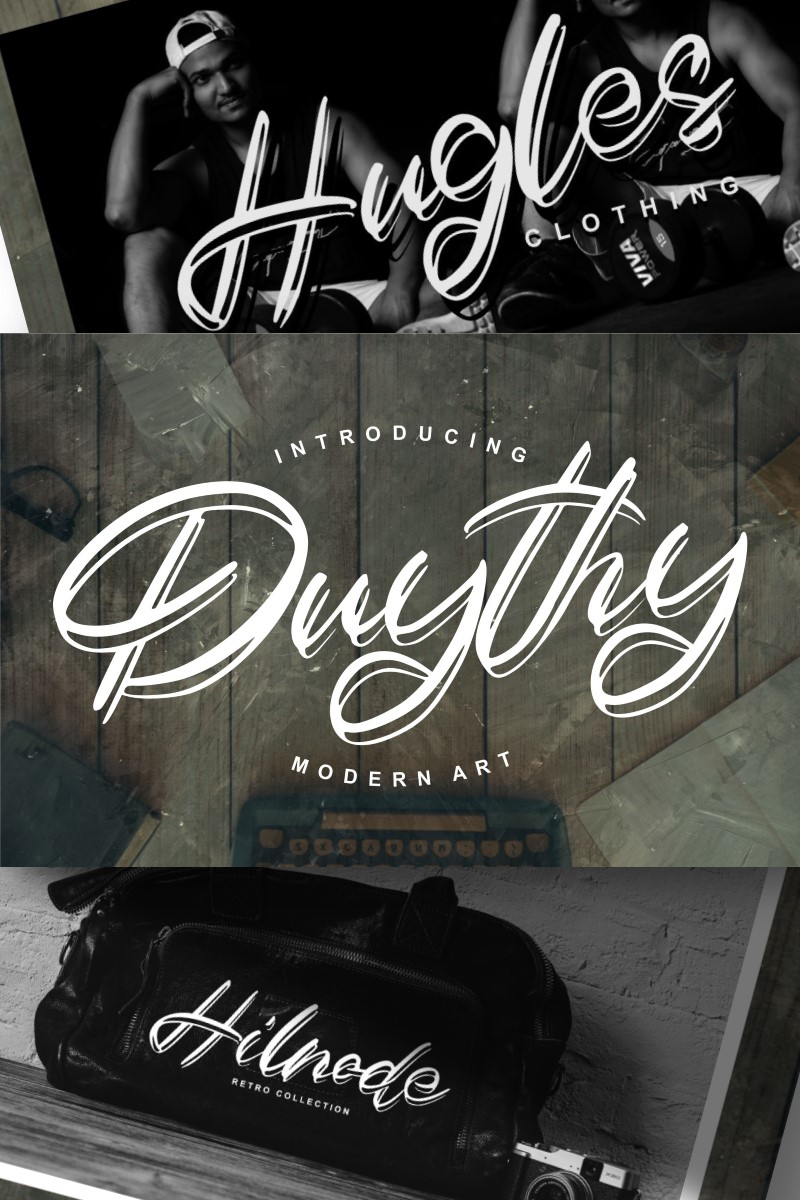 """Duythy | Modern Art"" 字体 #89167"