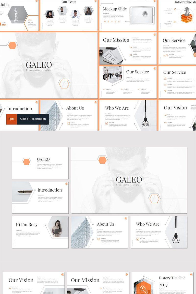 Galeo PowerPoint sablon 89134