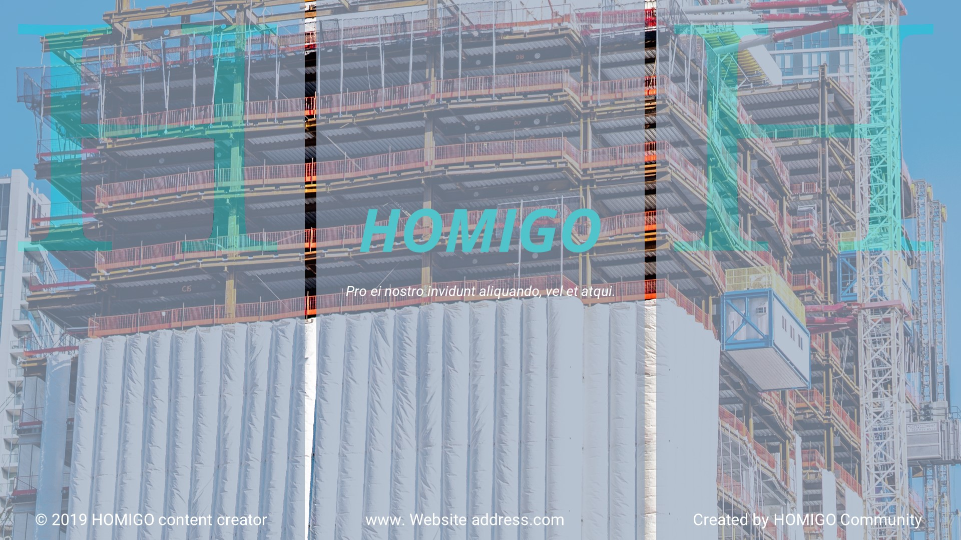 """Google Slides """"Homigo - Creative Building"""" #89105"""