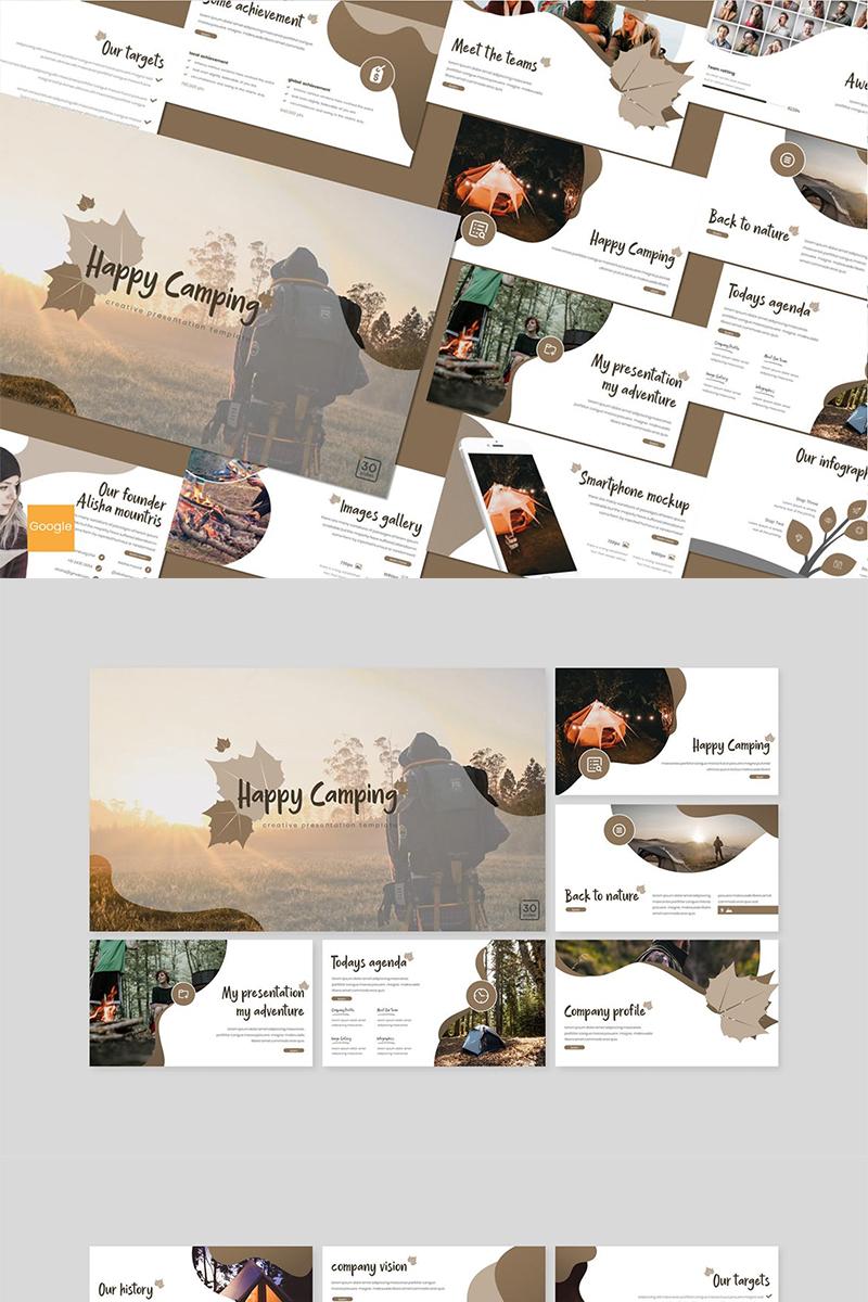 """Google Slides namens """"Happy Camping"""" #89160"""