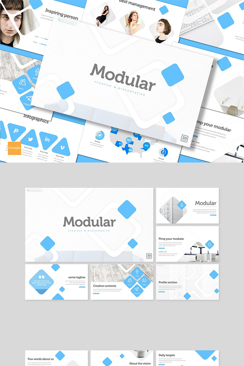 "Google Slides namens ""Modular"" #89154"