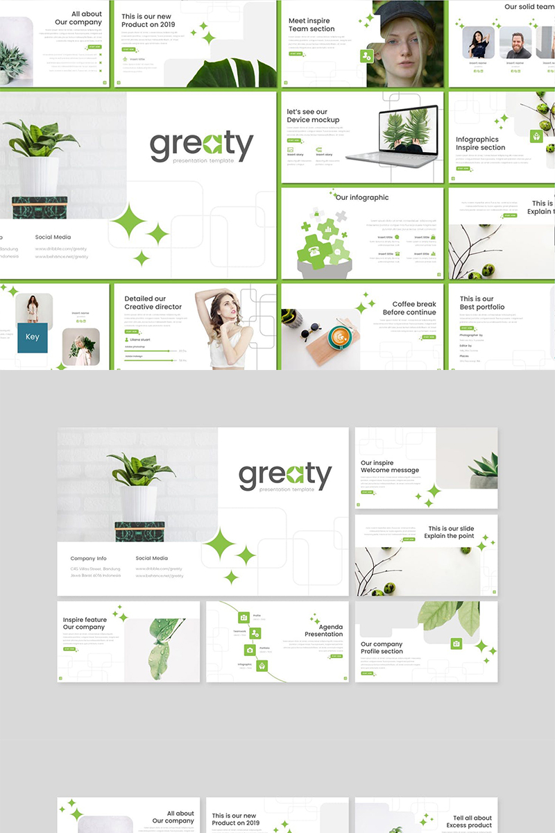 """Greaty"" Keynote Template №89113"