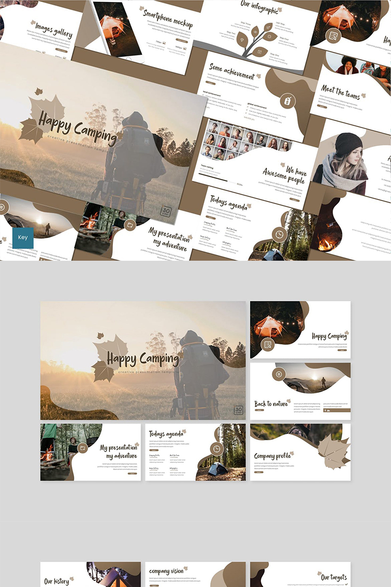 Happy Camping Keynote Template
