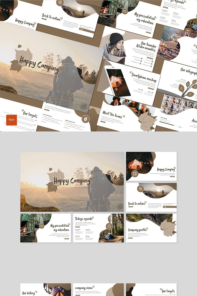 Happy Camping PowerPoint Template