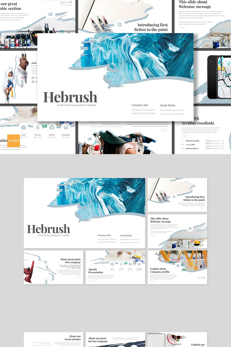 Hebrush Google Slides #89161