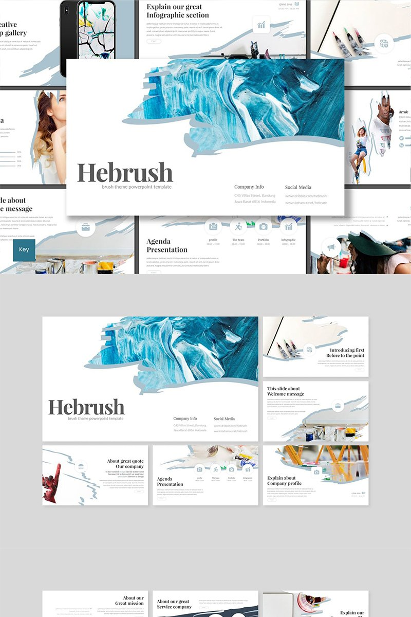"""Hebrush"" Keynote Template №89111"