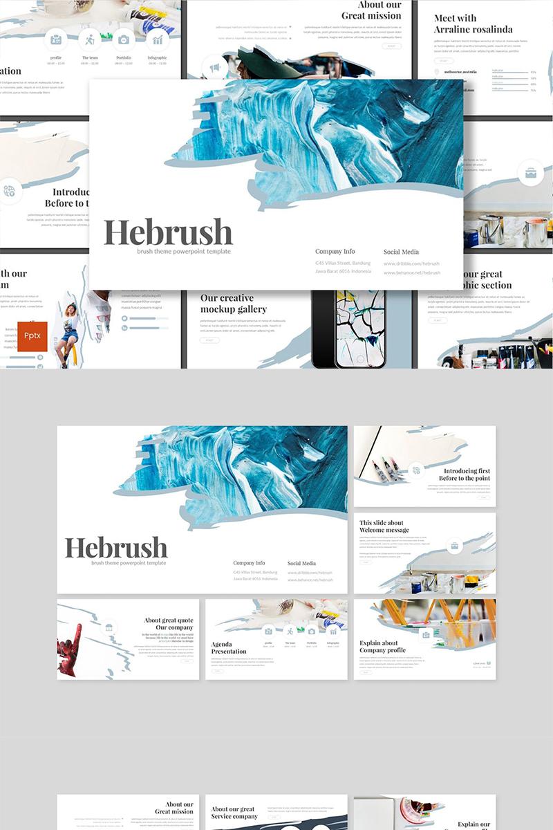 Hebrush PowerPoint sablon 89129