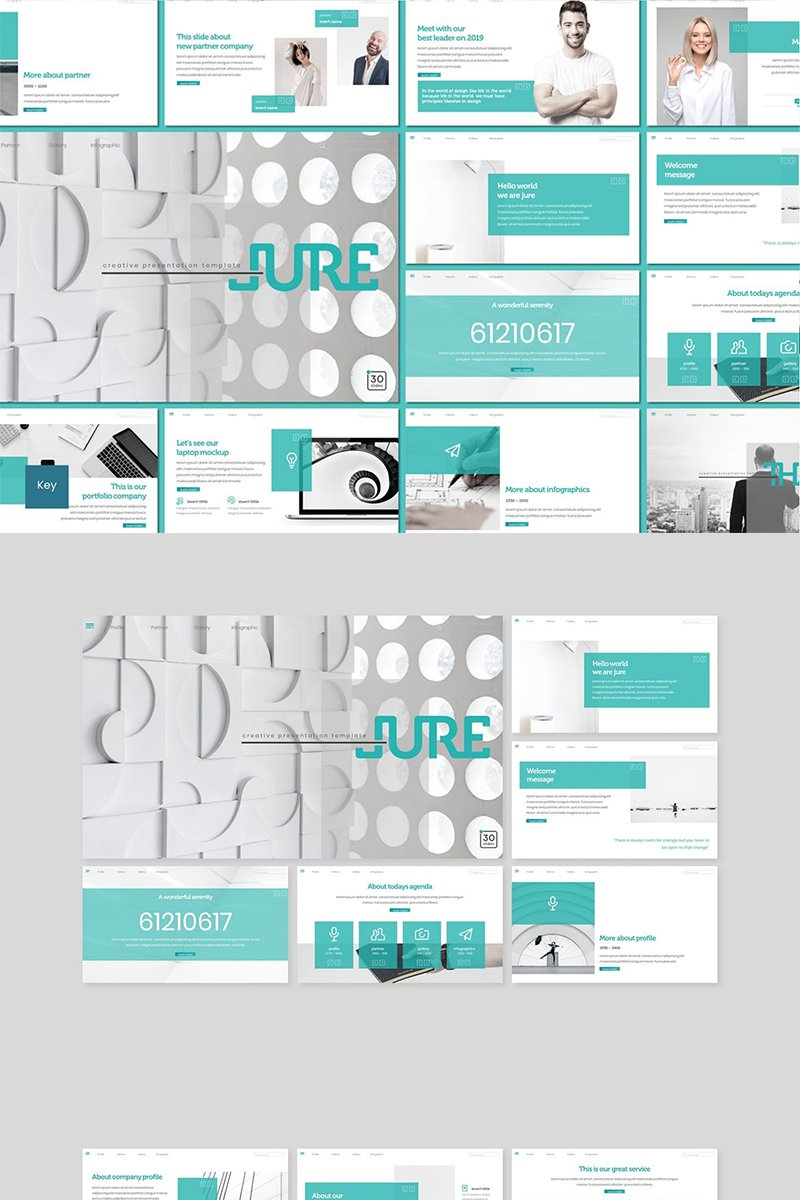 """Jure"" Keynote Template №89110"